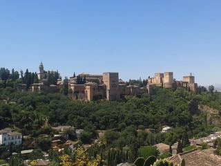 Vista de la Alhambra desde el Albaycín, Granada