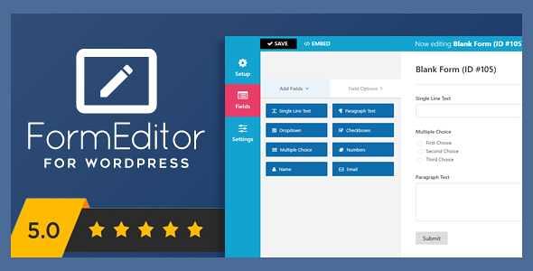 FormEditor WordPress Plugin free download