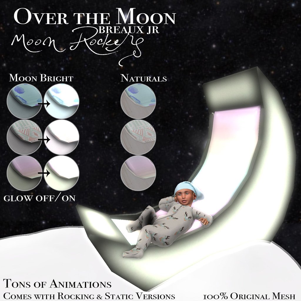 Over the Moon Rocker/Chair - SecondLifeHub.com