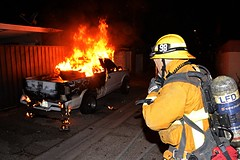 LAFD Prevents Truck Fire From Damaging Arleta Homes
