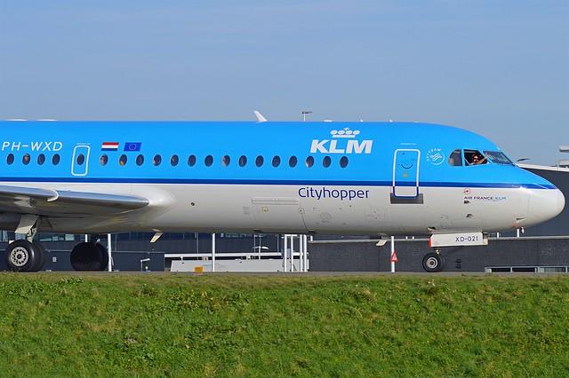KLM Cityhopper PH-WXD Fokker F70 cn/11563