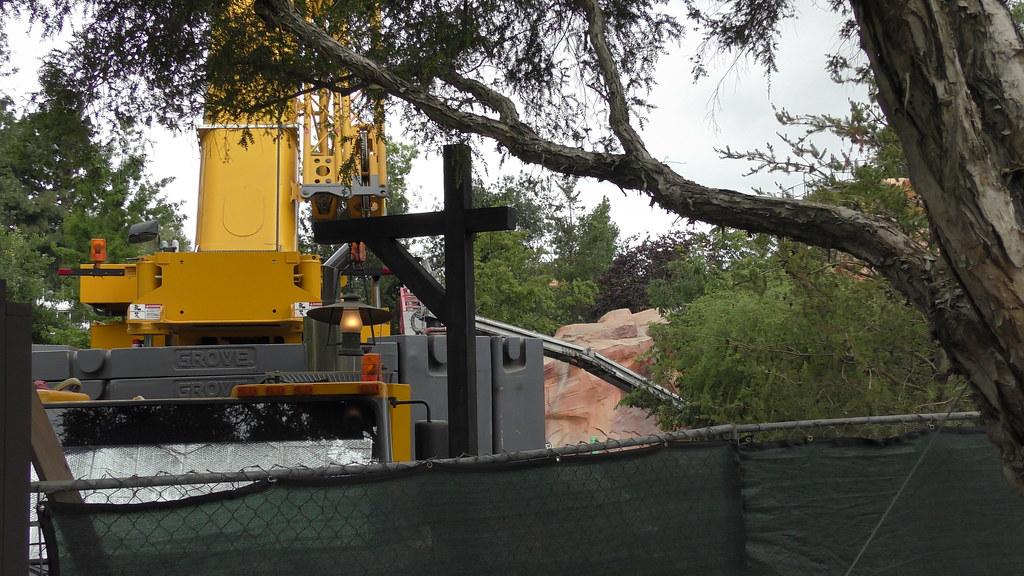 Star Wars Land construction at Disneyland Park, June 10th, 2017