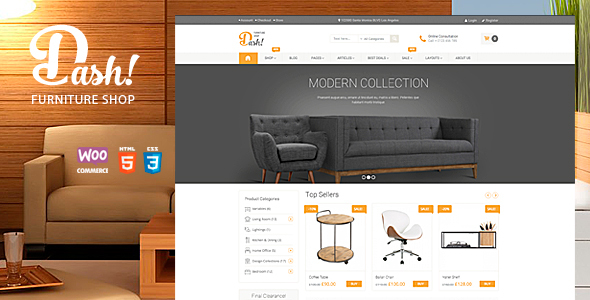 Dash v2.0 - Handmade Furniture Marketplace Theme