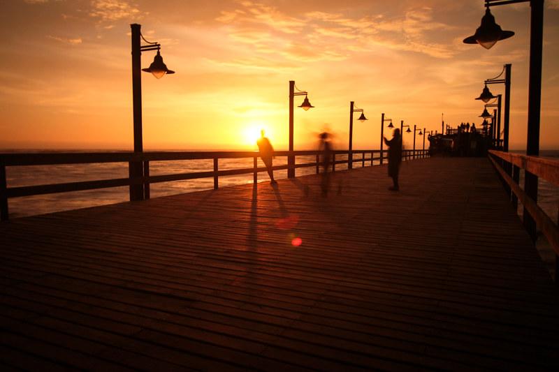 Jetty Swakopmund Sonnenuntergang Namibia Urlaub