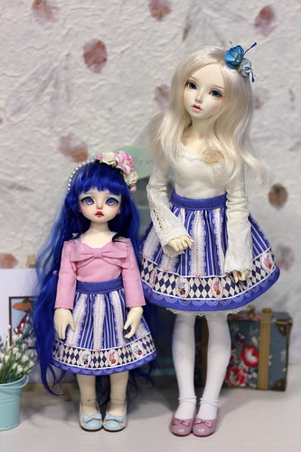 blue with cakes loli skirt | by Vitarja