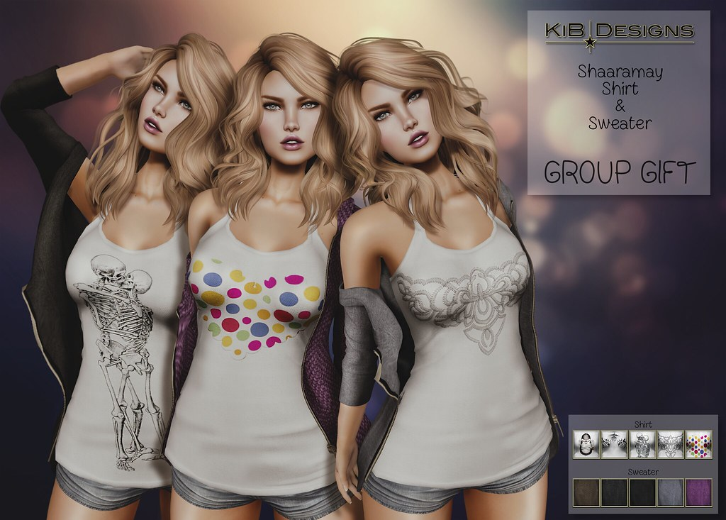 KiB Designs - Shaaramay Shirt & Sweater GROUP GIFT - SecondLifeHub.com