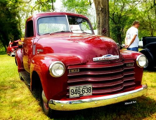 vintage Chevrolet pickup at a Delaware car show