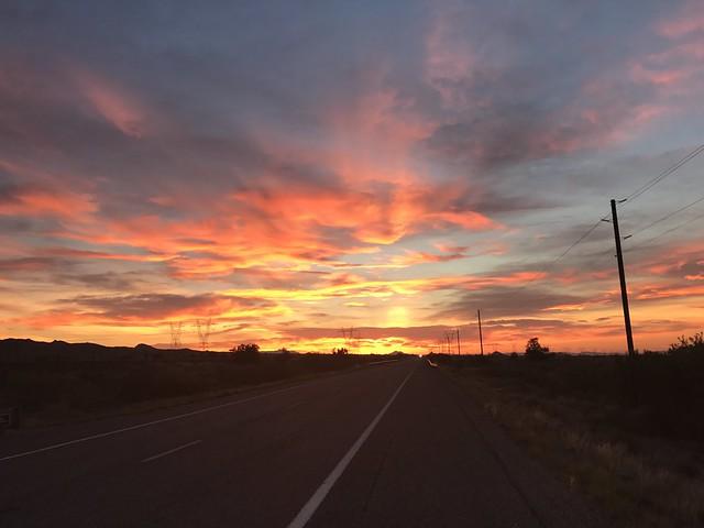 Sunset outside Kingman, Arizona