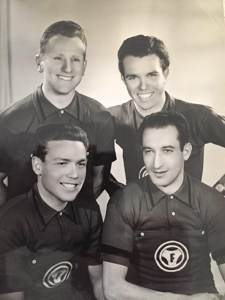 Dilettanti Seniores 1956  Carizzoni Giuseppe, Colombo Giovanni, Monzani Luigi, Sala Erminio (materiale inviato dal figlio Danilo .... grazie)