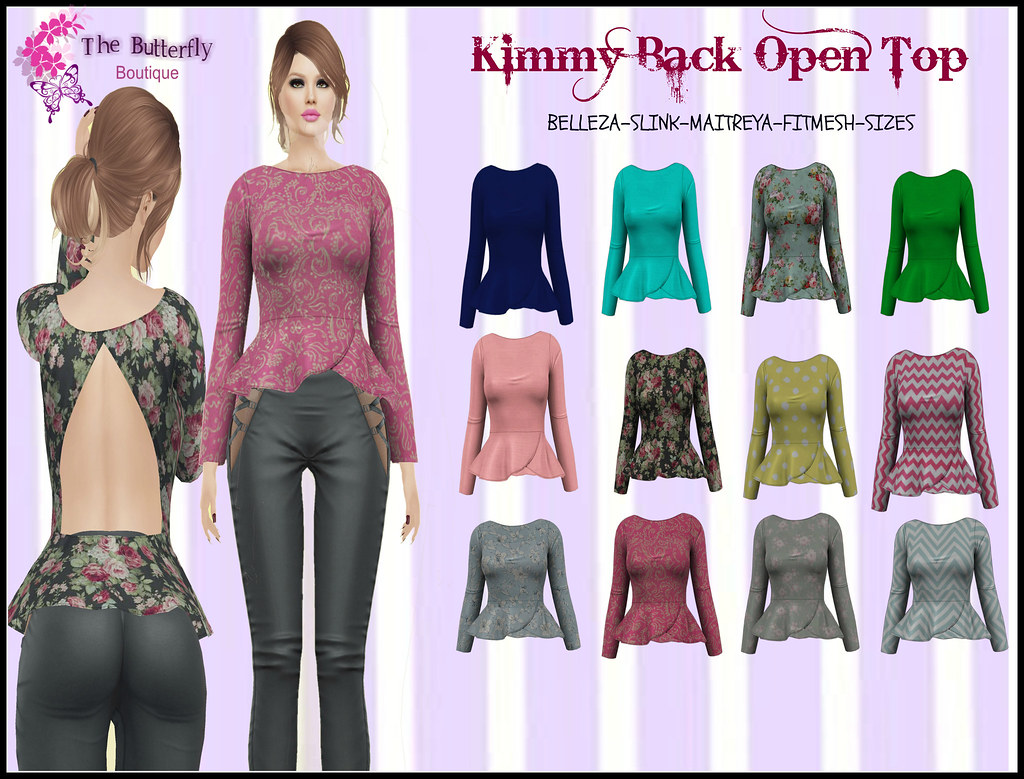 Exclusive Kimmy Open Back Tops @Ross Event NOW ! - SecondLifeHub.com