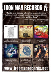 Iron Man Records Discography Advert 148x105mm No Marks