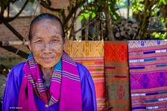 Fabric salewoman - Vang Vieng, Laos