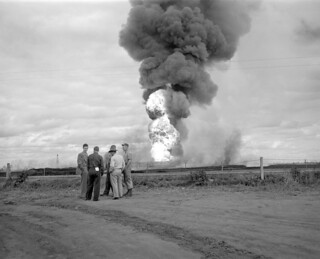 Out-of-control blowout at Atlantic No. 3, Devon, Alberta