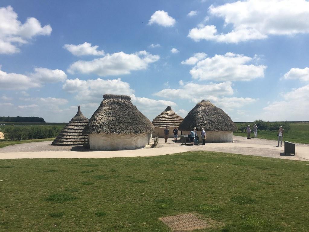 Stonehengen visitor centerin majat.