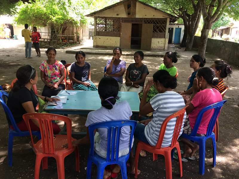 Womens' focus group, Timor-Leste. Photo by Alex Tilley.