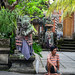 People at the Hindu temple in Bali, Indonesia