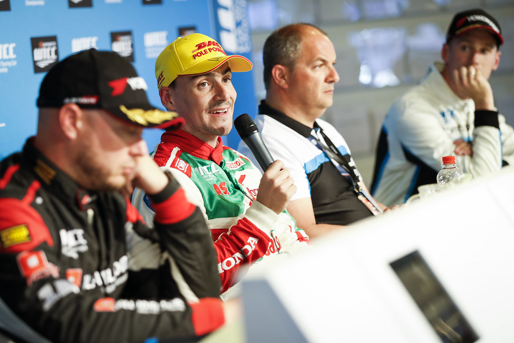 Qualifications' press conference. MICHELISZ Norbert (hun), Honda Civic team Castrol Honda WTC, ambiance portrait during the 2017 FIA WTCC World Touring Car Race of Nurburgring, Germany from May 26 to 28 - Photo Florent Gooden / DPPI