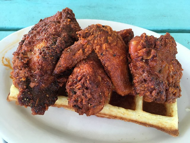 Nashville chicken and waffles - The Fremont Diner