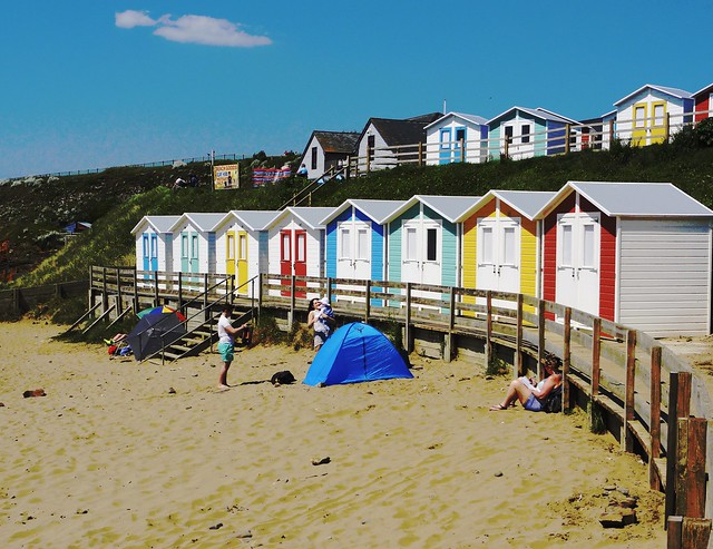 Colourful Beach Huts at, Sony DSC-HX5V