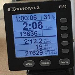 In one continuous motion, #rowing works my legs, core, back, and arms. It's working to correct my posture and to optimize my breathing. Even the repetitiveness is valuable #MentalTraining. I can find my center in the rhythm and stay there longer each time