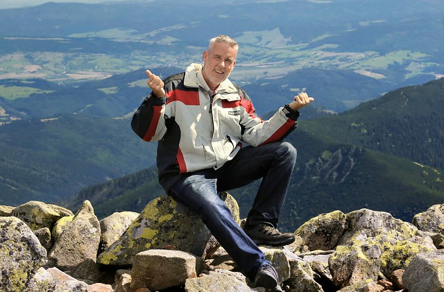 Ben on top of Mt Dereše in Central Slovakia