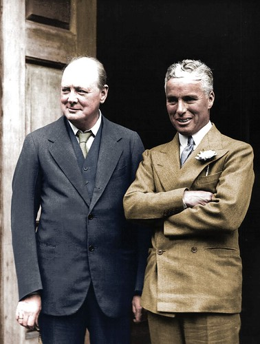Winston Churchill with Charlie Chaplin