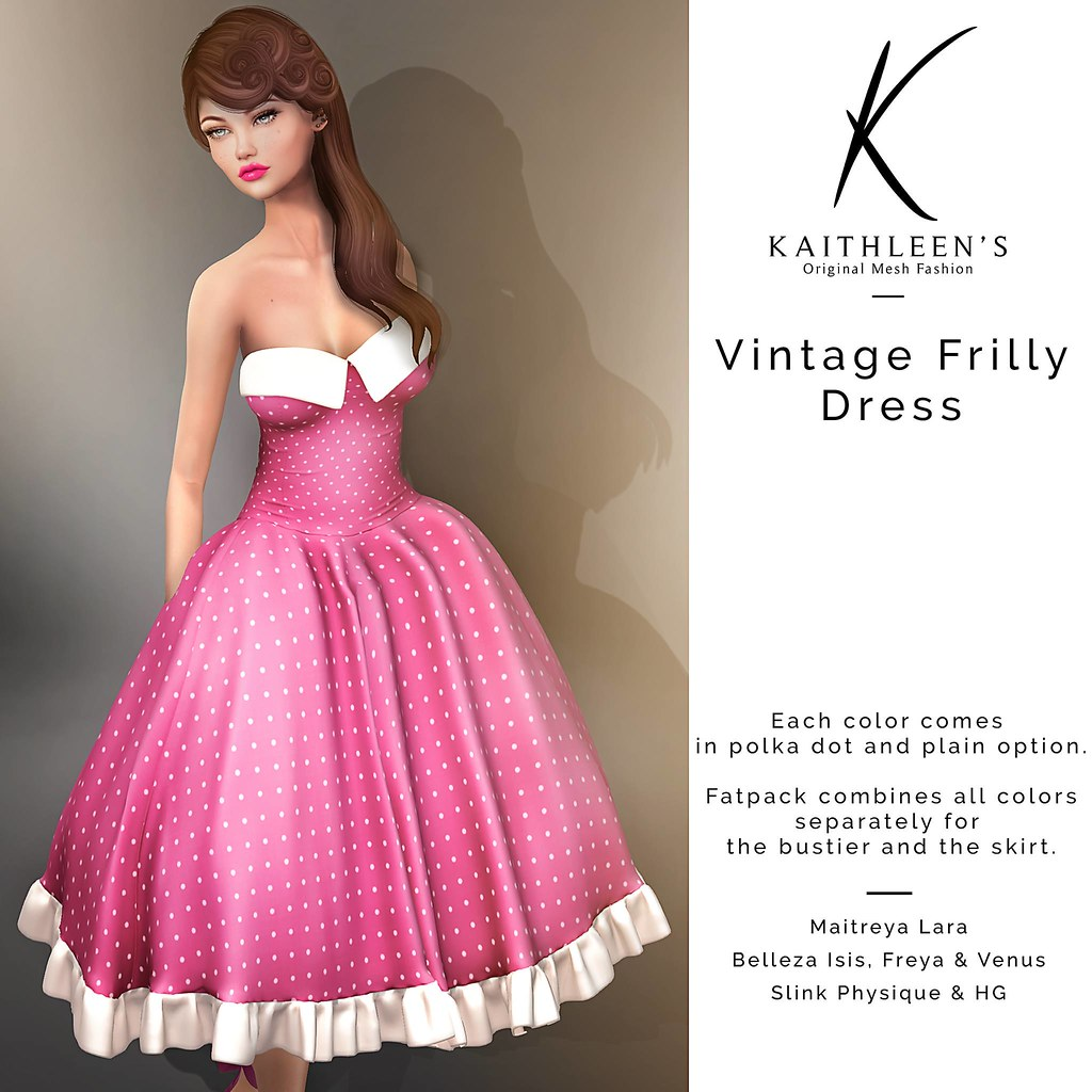 Kaithleen's Vintage Frilly Dress - SecondLifeHub.com