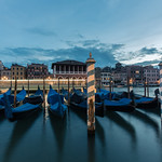 Night traffic in Venice