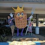 King Waffle Statue
