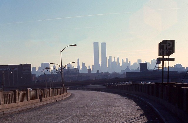 World Trade Center From Jersey City, 1976