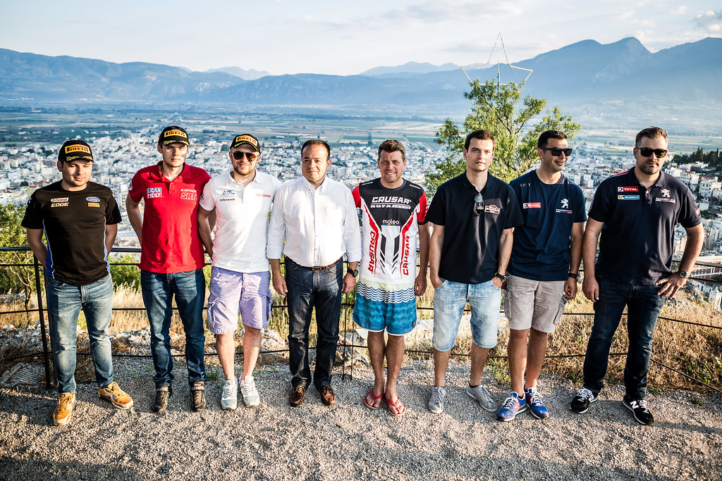 BANAZ Bugra (tur), GRYAZIN Nikolay (lva),  REMENNIK Sergei (rus), GRZYB Grzegorz (pol), MAGALHAES Bruno (prt) ambiance portrait during the European Rally Championship 2017 - Acropolis Rally Of Grece - From June 2 to 4 in - Photo Thomas Fenetre / DPPI
