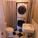 Washer dryer half bath