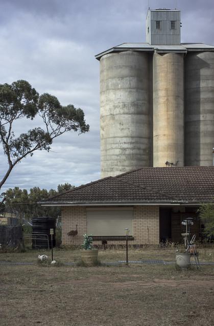 silo + house