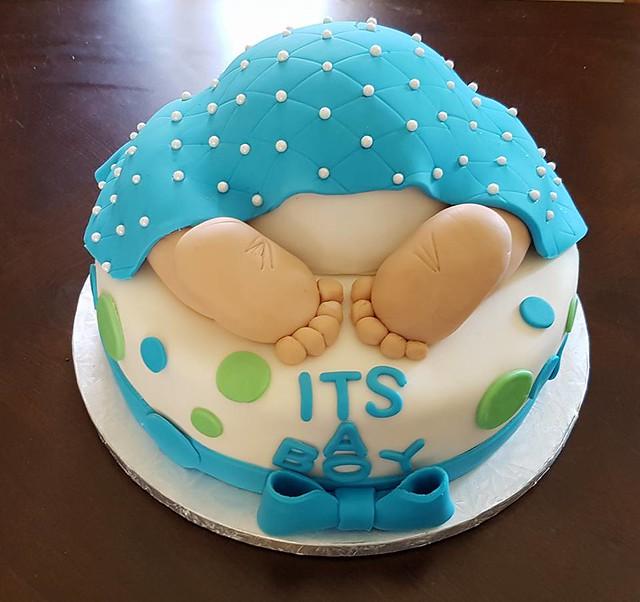 Baby Shower Cake by Boush Cake