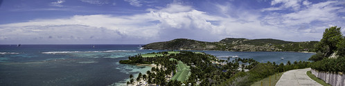 antigua caribbean westindies stjamessclub sea clouds sky panorama landscape