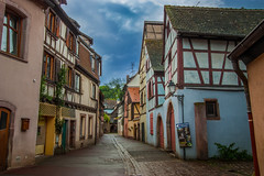 The Peaceful Alleyway of Colmar, France.