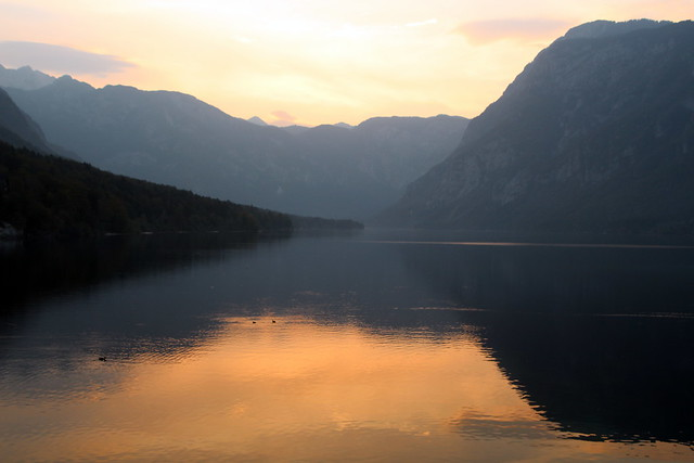 Sunset Over Lake Bohinj