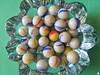 Coloured glass balls