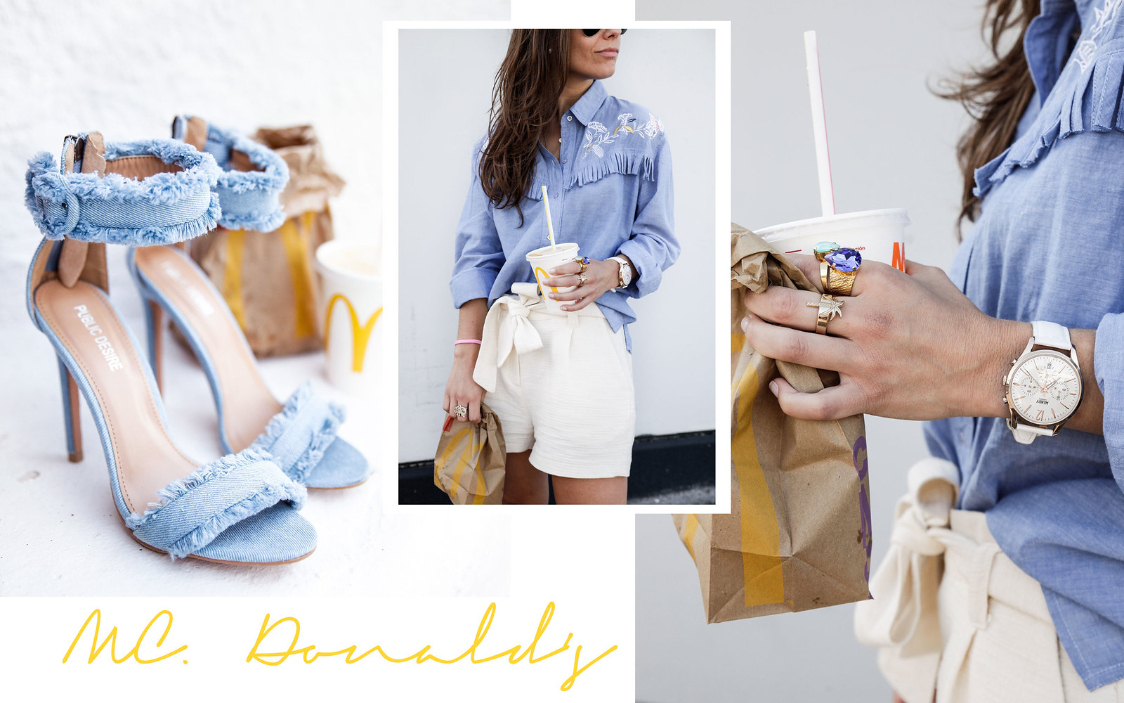 011_camisa_flecos_azul_mysundaymorning_fringed_shirt_fringed_theguestgirl_influencer_inspo_outft_summer_laura_santolaria_public_desire_denim_shoes_mc_donalds