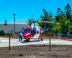 Airlift Northwest A109 Getting Ready to Rise From Whidbey General