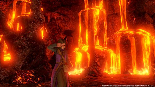 赤く燃える溶岩