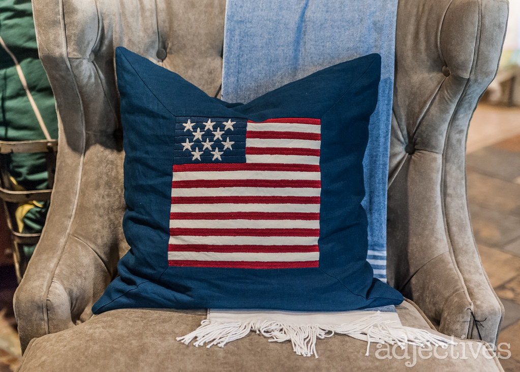 American Flag throw pillow at Adjectives Altamonte