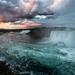 Spectacular nature of Niagara Falls at dusk by zilverbat.