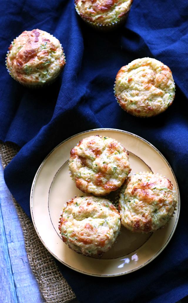 Savory Brown Butter Zucchini Cornbread Muffins