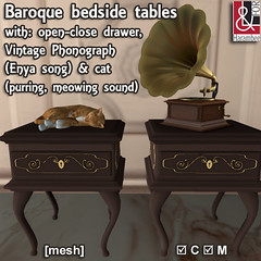 2 Baroque bedside tables