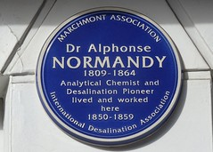 Photo of Alphonse Normandy blue plaque