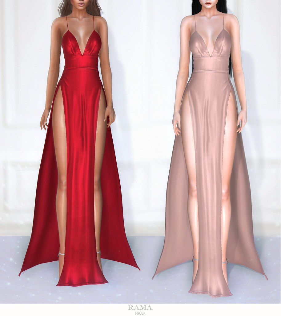 RAMA.Prosk - Vicky Satin Gown - SecondLifeHub.com