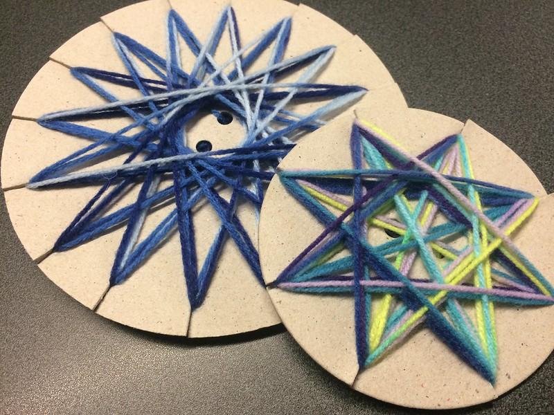 Matariki yarn stars