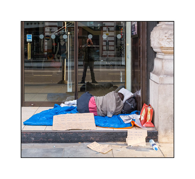Homeless & Desperate, West London, England.