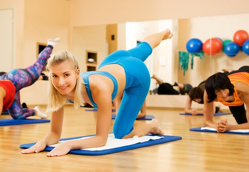 Girls Exercising For Weight Loss In A Room